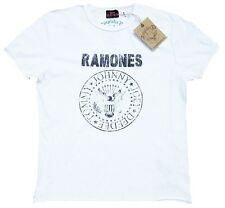 AMPLIFIED RAMONES Logo Hey Ho Let's Go Vintage Rock Star Designer T-Shirt g.XXL