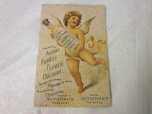1887 Austen's Forest Flower Cologne Trade Card
