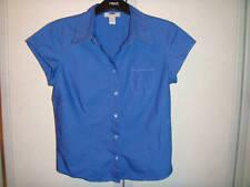 Ladies Blue Short Sleeve  Blouse Size M