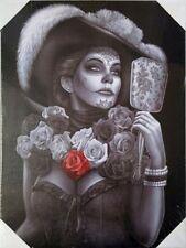 DGA Day of the Dead Dia de Los Muertos Canvas Wall Art 12x16 Inches - Catrina