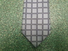Next Polyester Blue Squared Tie