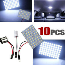 10X Cool White 48-SMD Panel RV Interior LED Lights +T10 1141/1156/BA15S Adapters