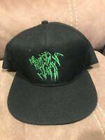 """Suicide Squad Black """"Ha Ha"""" Joker DC Comics Snapback Adjustable Cap Hat Clean!"""