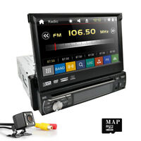 "7"" Single DIN GPS Auto DAB+ Radio Flip-Out Car Stereo DVD Player Bluetooth USB"
