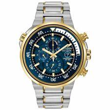 Citizen Men's Endeavor Two-Tone Chrono Blue Dial S Steel Watch CA0444-50L