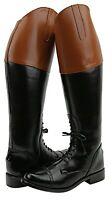 Hispar Mens Man Pull On Fox Hunting Hunt Field Boots Without Back Zipper Tan Top