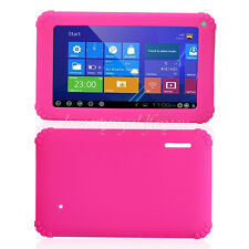 """Soft Gel Silicon Case Cover For 7"""" 7 inch Android Tablet PC Pad Protector Pink"""