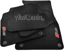 Audi A4 B7 2005-2007 Black Floor Mats With RS Logo With Clips LHD Side EU