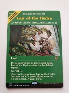 Lair of the Hydra (Collector's Ed. Adventures in the Gorgotten Realms MTG)