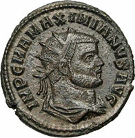 MAXIMIAN w JUPITER Zeus Authentic Ancient 293AD Genuine Roman Coin i85026