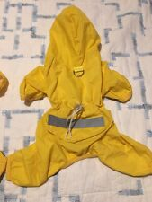 ADORABLE YELLOW HOODED RAIN-SUIT FOR X-SMALL DOGS