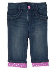 NWT~ Gymboree PINWHEEL PASTELS cropped polka dot cuffed jeans~6-12