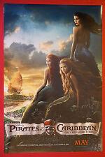 Disney Pirates of the Caribbean On Stranger Tides Mermaid Movie Poster 24X36 New