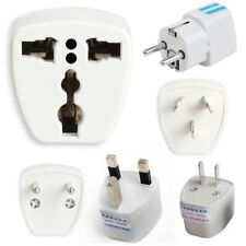 Universal Travel AC Wall Power Adapter US/EU to UK Plug to US/AU Plug Socket