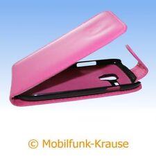 Flip Case Etui Handytasche Tasche Hülle f. Samsung GT-I8200N / I8200N (Pink)