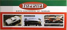 ANTIGUA BARBUDA 1998 Klb 2824-26 Block 409 Ferrari Race Cars Autos Rennautos MNH