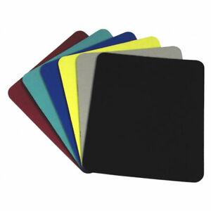 PLAIN BLACK BLUE GREEN YELLOW RED GREY FOAM MOUSEMAT PC DESKTOP COMPUTER LAPTOP