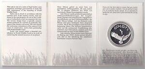 OMAN - SILVER PROOF 2-1/2 OMANI RIALS COIN 1987 YEAR KM#73 WILDLIFE EAGLE
