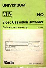 Bedienungsanleitung Notice d ´emploi Handbook Universum VHS VR 2306 B215