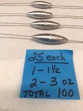 100 BOTTOM BOUNCERS  25 EACH 1 OZ, 1 1/2 OZ -2 OZ, AND 3 OZ.