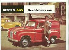 AUSTIN A35 5cwt DELIVERY VAN  SALES BROCHURE EARLY 60's