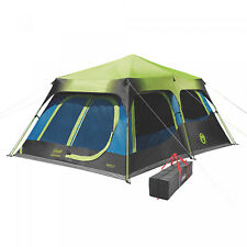 Coleman 10-Person Dark Room Cabin Camping Tent With Instant Setup And Carry Bag
