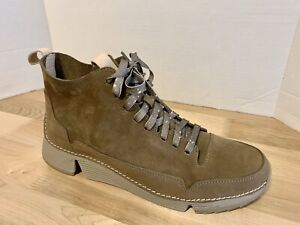 New Clarks Trigenic Tri Free Taupe Suede Nubuck Ankle Boots Womens US 10