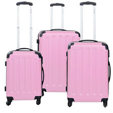 GLOBALWAY 3 Pcs Luggage Travel Set Bag ABS PC Trolley Suitcase ...