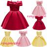 Flower Girls Kids Pageant Party Tutu Dress Princess Bridesmaid Wedding Prom Gown
