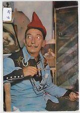 2185, Salvador Dali Color Portrait Carte Costa Brava tourné 1977!