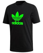 Adidas Men's Short-Sleeve Green Trefoil Logo Graphic T-Shirt