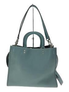 COACH 2Way Rogue Grabin Handbag Leather 38124 Leather Blue Shoulder bag