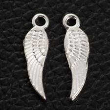 Lady Luck3: 50x Tibetan Style Silver  Single Wings Pendant