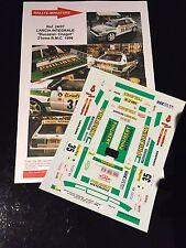 DECALS 1/24 LANCIA DELTA DU CASTEL RALLYE MONTE CARLO 1996 WRC RALLY HASEGAWA