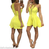 GAMISS Women Clubwear Playsuit V Neck Bodycon Lace Party Jumpsuit&Romper Tro