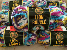 Lion Boucle Acrylic Mohair Nylon Yarn Color No. 201 Sprinkles 7 New Skeins