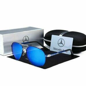 Mercedes AMG Herren UV400 Sonnenbrille Sport Driving Golf Outdoor Aviator Brille