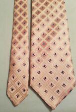 Ermenegildo Zegna 100% Silk Made Italy Neck Tie, Pink with 3d Blue Rose