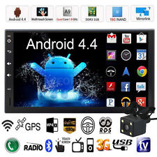 "6.2"" Android 4.4 3G WiFi Double 2DIN Car Radio Stereo MP5 Player GPS Nav TV +Cam"