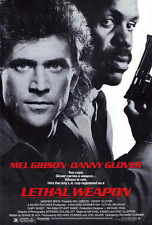"LETHAL WEAPON Movie Poster [Licensed-NEW-USA] 27x40"" Theater Size Gibson,Glover"