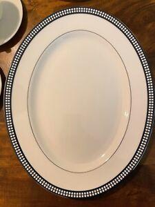 "NWT Lenox Susan Sacks Escapade White China Oval 13"" Platter (4 Available)"