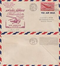 US 1948 HELICOPTER FIRST FLIGHT COVER AM 84 MONROVIA TO BLOOMINGTON