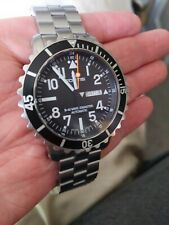 Fortis B-42 Marinemaster Swiss Automatic Day Date 200m Diver Black Dial Complete