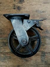 Vintage style Industrial metal castors with cast iron caster wheel