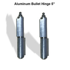 "Aluminum Weld Hinge Body Bullet Stainless Steel Bushing/Pin with Grease 5"" Pair"