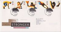 GB ROYAL MAIL FDC FIRST DAY COVER 1996 OLYMPICS STAMP SET BUREAU PMK