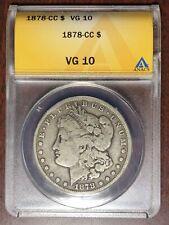 1878 CC ANACS VG-10 Morgan Dollar #W6728