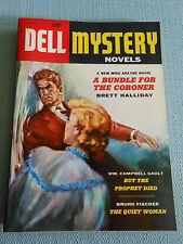 Vintage Paperback, Digest Size, Dell Mystery Novels, 1955