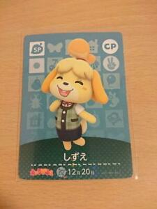 Animal Crossing amiibo card Vol.1 Shizue CP Forest Happy home Tracking#