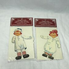 FOR DARLENEShackman 1995 Raggedy Ann And Andy Cutout Paper Doll Sets w//Clothing